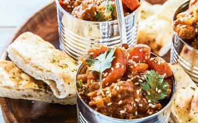 Indiase curry van geitenlam