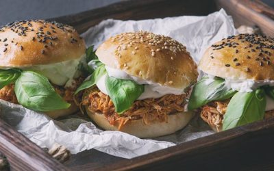 Home-made pulled chicken
