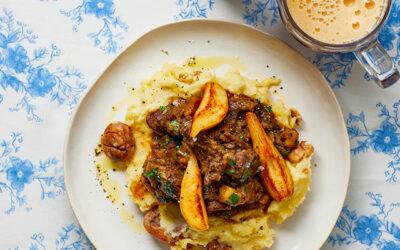 Reestoof met bockbier & kastanje-aardappelpuree